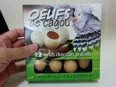 ニューカレドニア製カグー鳥のエッグチョコ1