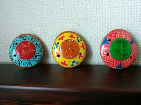 ペルー土産オカリナペンダント1