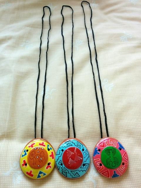 ペルー土産オカリナペンダント7