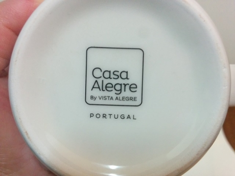 ポルトガル製 VISTA ALEGRE 社のアジュール マグカップ3