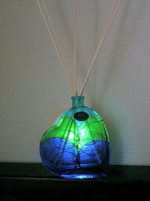 スロヴェニア製ハート型ガラスランプ3