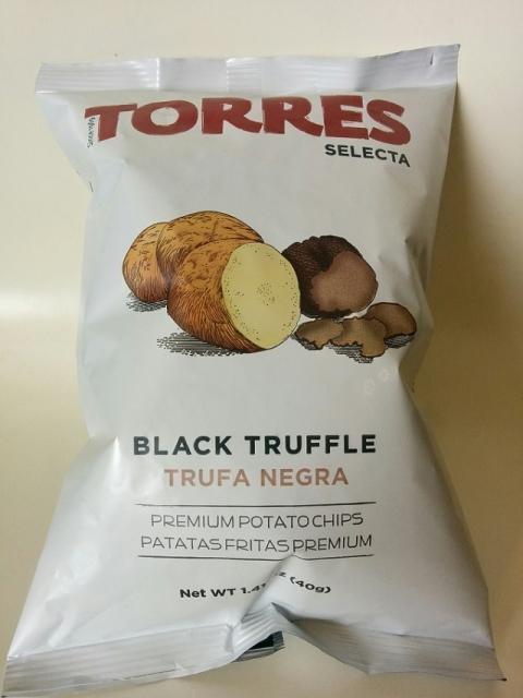 スペイン製 黒トリュフポテトチップス