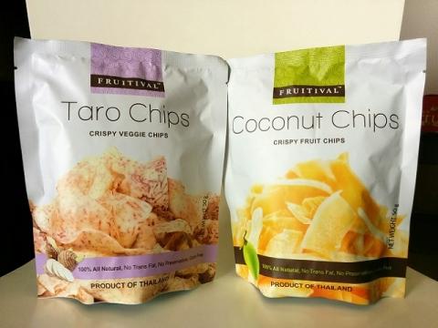 タイ製タロイモチップス&ココナッツチップス