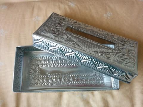 バリ島製アルミのティッシュボックス2
