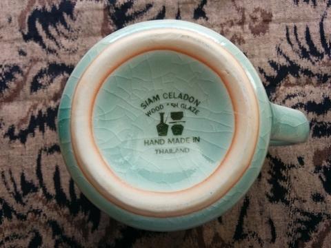 タイの陶器セラドン焼きマグカップ3