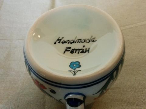 トルコ製カーネーション柄のマグカップ3