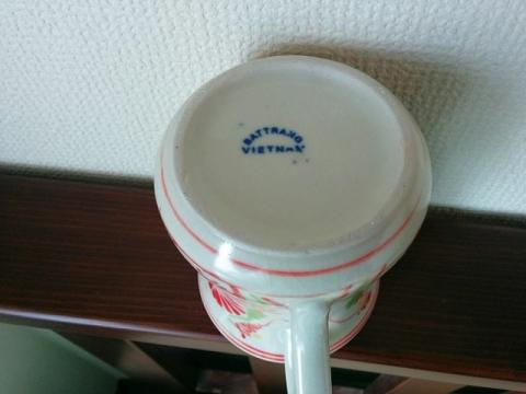 ベトナムのバッチャン焼きマグカップ3