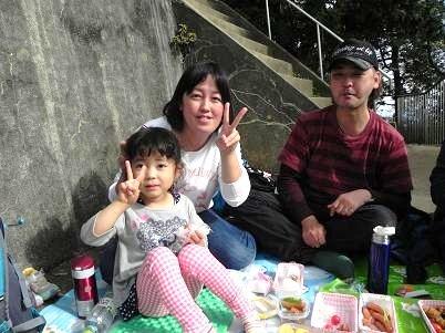 筑波山頂付近で昼食