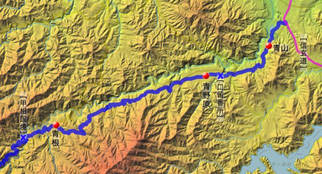 道志道:津久井県内の各村の位置
