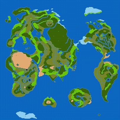 ドラクエ3の世界地図格好良すぎだろwwwwwwwwww