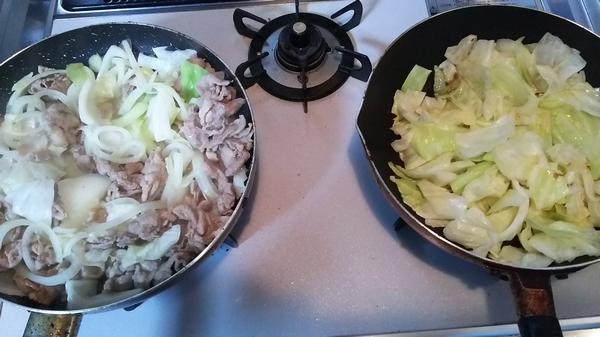 キャベツの甘辛炒め (2)
