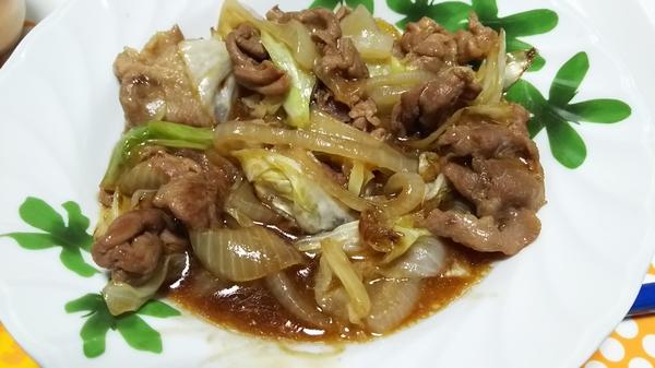 キャベツの甘辛炒め (5)