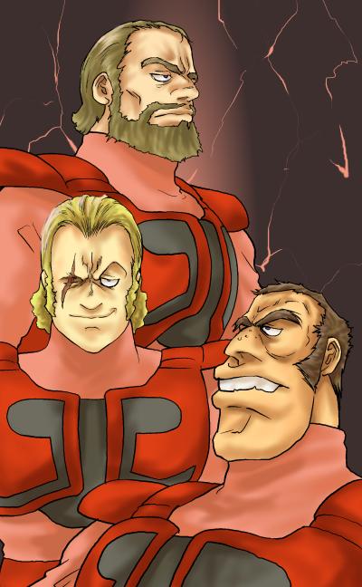 赤い三騎士改