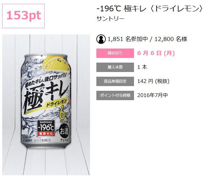 サントリー-196℃ 極キレドライレモン