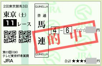 2016 青葉賞 馬連