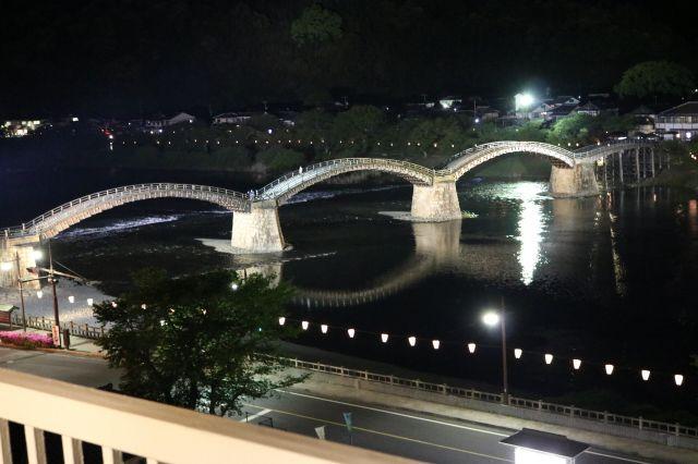 錦帯橋 夜(1)