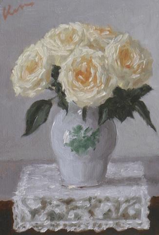 13cmx9cm「レースの花瓶敷き」