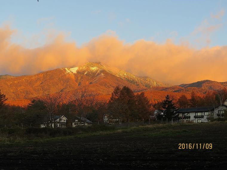 朝焼け八ヶ岳