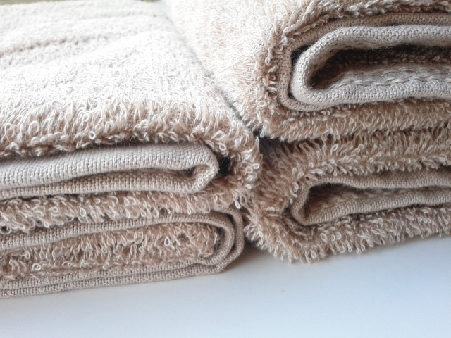 楽天 4枚組タオル 洗濯前後比較