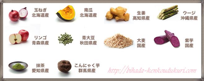 青汁サラダプラス 野菜の素材