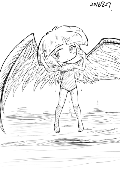 2016年8月27日羽根子さんロリ水着