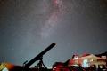 天文台と夏の大三角と15cm屈折2