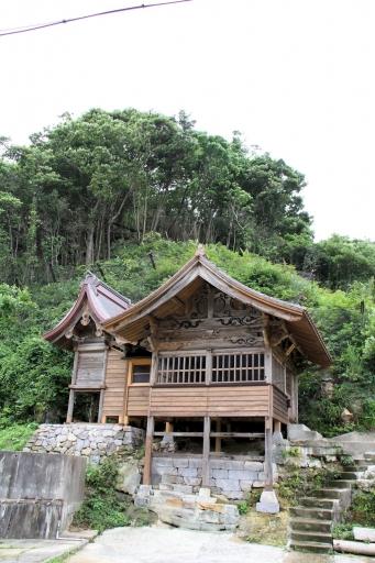 恵比寿神社の側面
