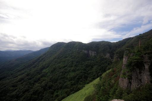 屏風岩の全景