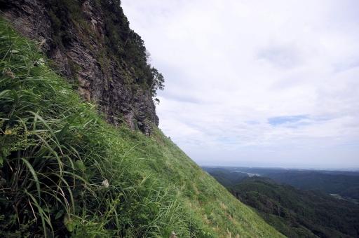 屏風岩のアップ