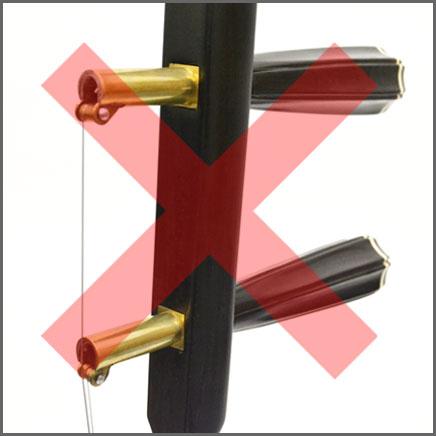 ネジ式金属糸巻き