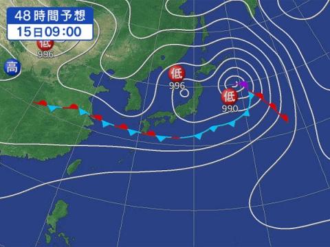 15日天気図