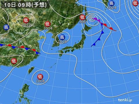 10日天気図