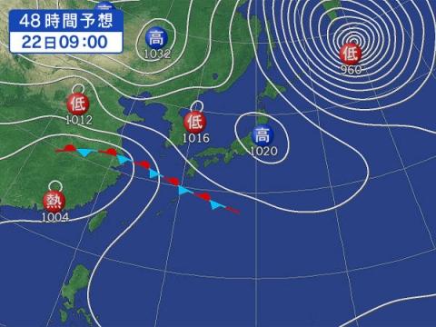 22日天気図