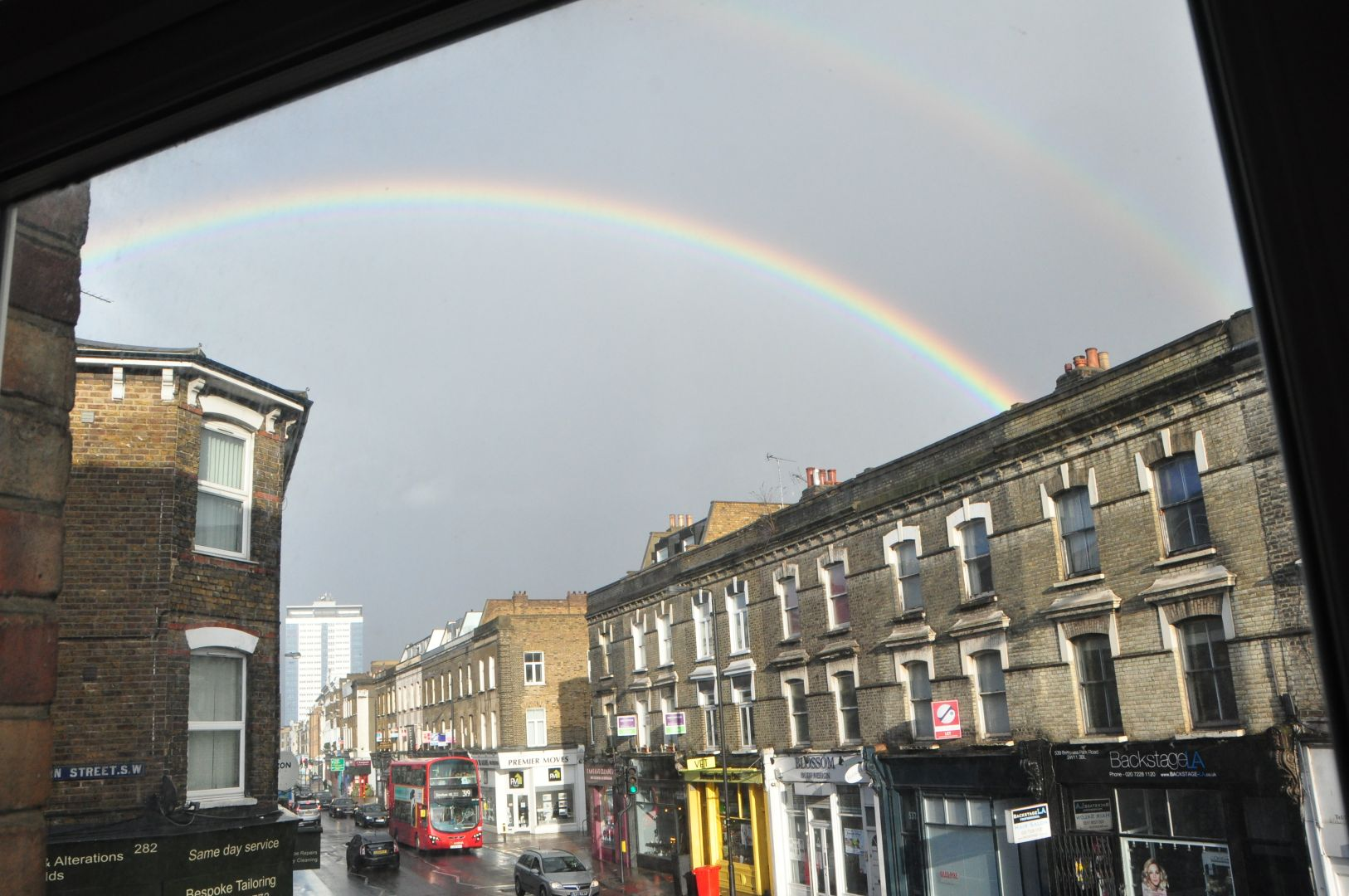 a rainbow in london
