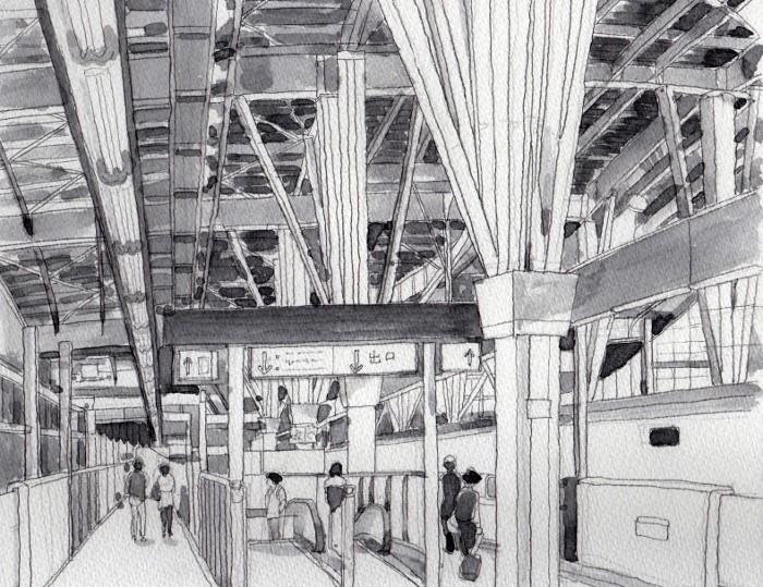 金沢駅のホーム グリザイユ (700x539)