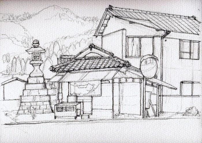 園部市竹井の辻 デッサン (700x495)
