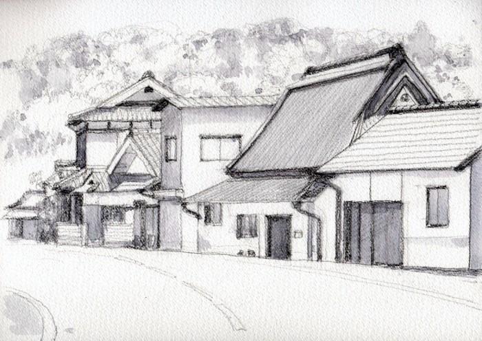 竹井の街並み グリザイユ (700x496)