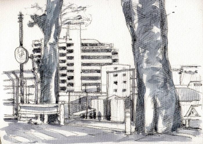 香里園の古木 グリザイユ (700x496)
