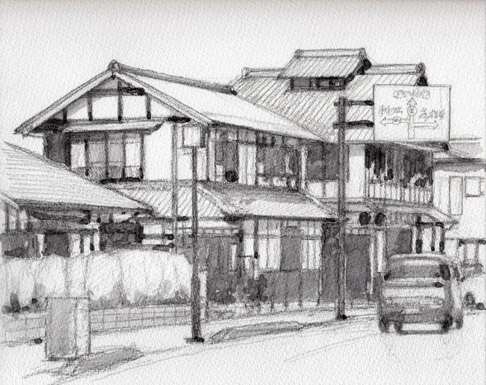 彦根の街角2 グリザイユ (2) (700x555)