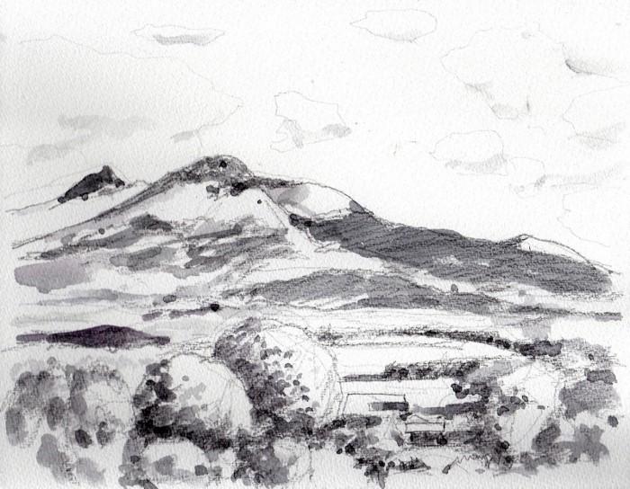 北海道駒ヶ岳 グリザイユ (700x544)