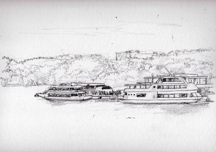松島の遊覧船 デッサン (700x493)