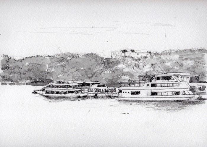 松島の遊覧船 グリザイユ (700x497)