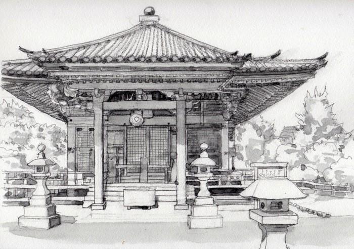 松島五大堂 グリザイユ (700x492)