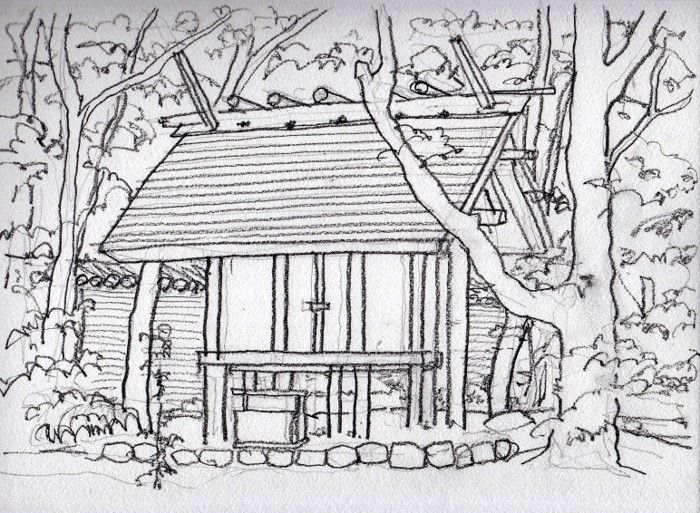 熱田神社 デッサン (700x513)
