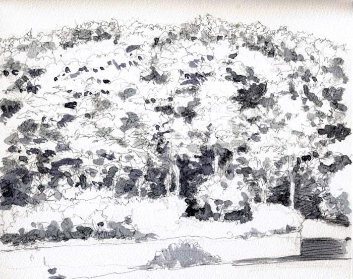 公園の万葉 グリザイユ (700x553)