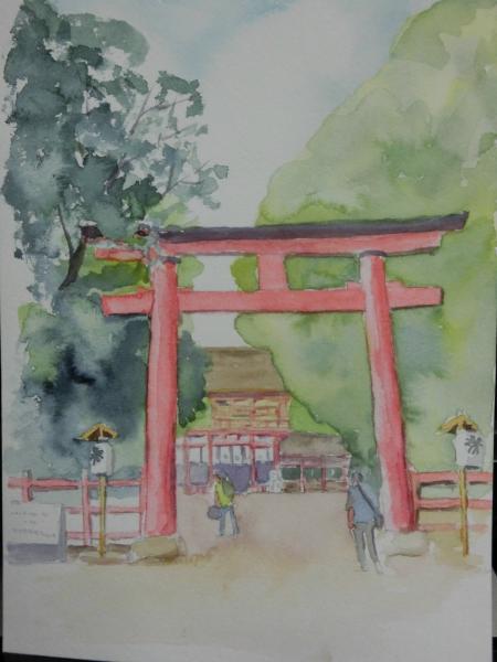 A下賀茂神社 朱門2