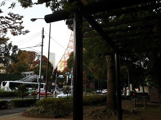 東京タワー麓