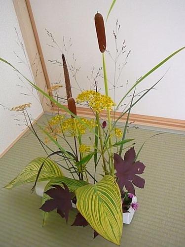 家にあるもので生け花