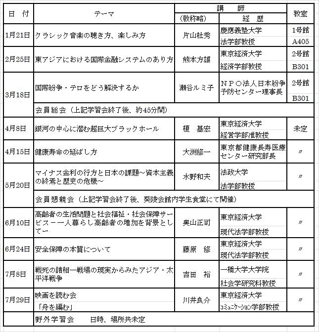 11月会報スケデュール