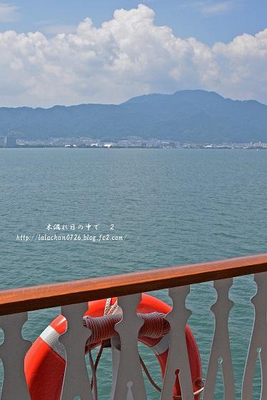 琵琶湖に1